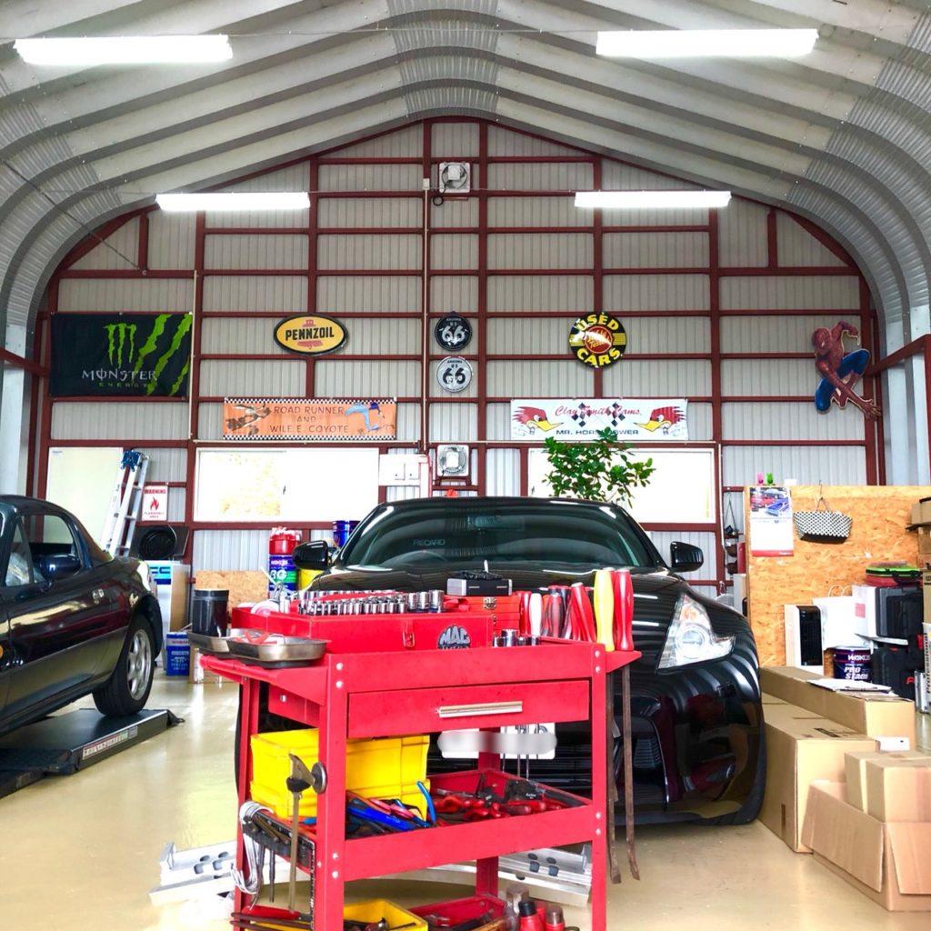 アメリカンスチールスパンModel-Pの自動車修理工場!