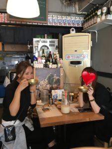 BTSがやってきたお店で食事した写真