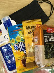 韓国有名どころお菓子と他お土産写真