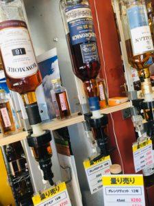 酒がど安い金助さんでのウイスキー量り売り