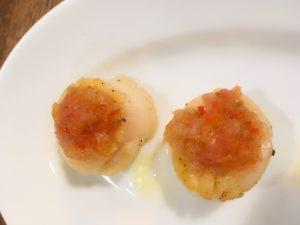スペイン料理のボケリアさんで食べたホタテの何か!