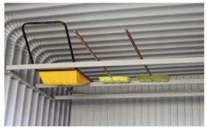 カスケードガレージのOPTION天井ラックの写真